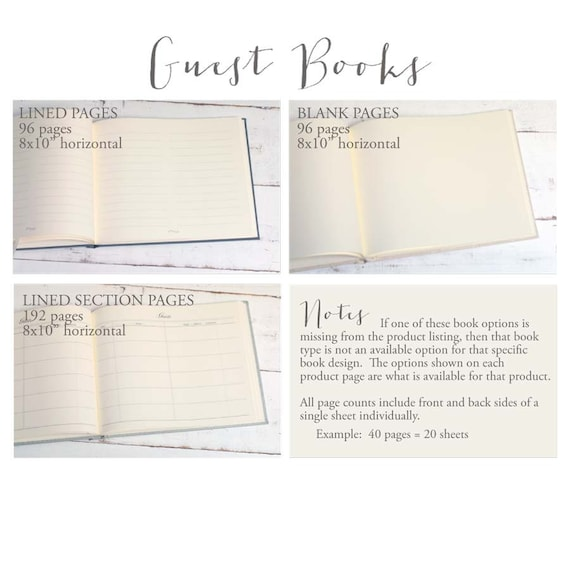 guest book pages