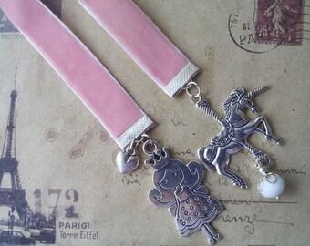 Fairy velvet bookmark