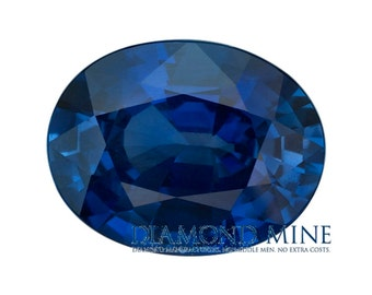0.98 Carat Blue Sapphire, Oval cut Sapphire, Loose Sapphire Gemstone, Blue Gemstone, Non Heated Real Sapphire
