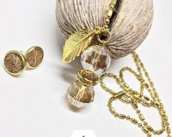 JuNk Jewelry Pendant & Earring set