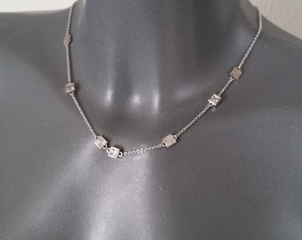 Silver necklace 925 square elements SK529