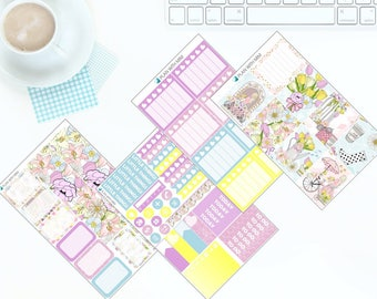 Spring Has Sprung - Weekly Kit Stickers for Erin Condren Vertical LifePlanner *NEW PREMIUM PAPER!*