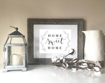 Home Sweet Home // Hand Lettering // Home Decor