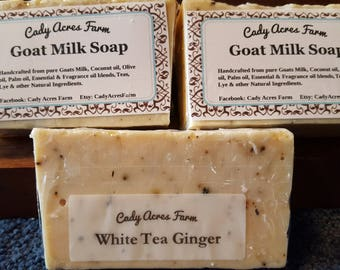 Goat Milk Soap - White Tea Ginger