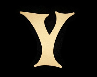 """8"""" Unfinished Wooden Letter, Crazy Harold font, 1/2"""" thick, Ready to Paint, Made in USA 08CH50-2"""