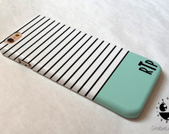 Stripes Teal iPhone 8 Plus Case iPhone 8 case iPhone 7 case iPhone 7 Plus case  iPhone 6 case  iPhone 6s case iPhone 6 plus case Se Case
