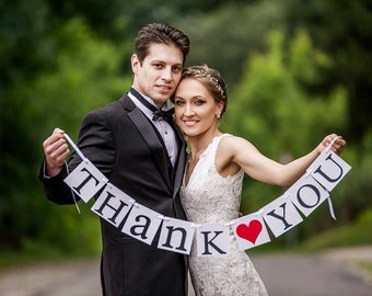 Thank You Sign, Wedding banner, Thank you Sign, garland, banners, Wedding Decoration, Thank You banner,banner
