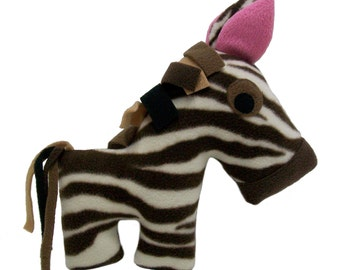 Brown and Cream Striped Huggable Horse