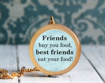 foodie gift , jewelry for foodie , gift for foodies , friendship necklace ,
