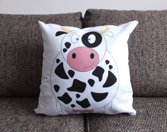 Cow - Vegan Suede Cushion