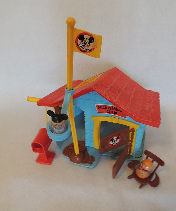 Vintage 1976 Hasbro Playskool Webbles Mickey Mouse Club Clubhouse Play Set