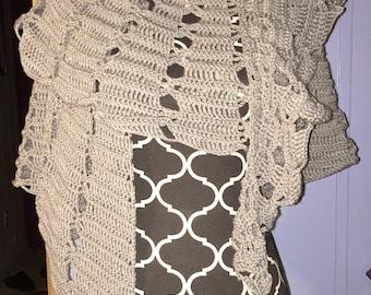 Silver/Grey circular shawl