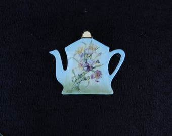Tea Bag Holder: Hand Decorated Porcelain
