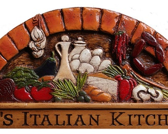 Italian Kitchen Personalized Plaque