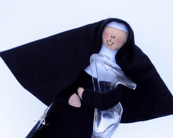 "Nun doll Catholic humor gift good sister ""Sisterella""-"