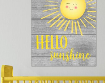 Hello Sunshine Personalized Wall Art CANVAS CS0093