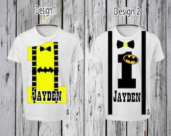 Batman 1st Birthday Iron T shirt Design FILE ONLY! Batman 1st birthday Tee shirt- Batman tee shirt- Batman suspenders- Batman shirt Designs