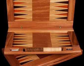 Solid Hardwood Backgammon Board