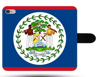Belize Flag Original Belmopan North America Tourist Fabric Phone Cover with Magnetic Clasp for iPhone and Samsung Galaxy