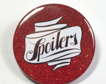 """Dr.Who Doctor Who River Song """"Spoilers"""" Pinback Button Badge"""