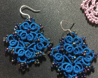 Beautiful earrings - tatting pattern