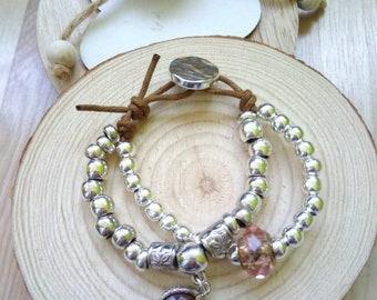 50 bracelet style one brown pendant