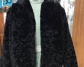 """Faux Persian Lamb 'Alaskan Kurl"""" 100% Mohair Jacket 1930's"""
