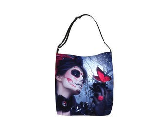 Day of the Dead Gothic fantasy art Tote bag