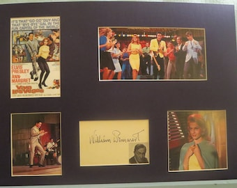 """Elvis Presley in """"Viva Las Vega"""" with Ann Margaret & William Demarest as her father and his autograph"""
