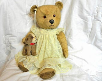 "Antique Chiltern Bear 20"" 1950's  - Vintage Mohair Teddy Bear"
