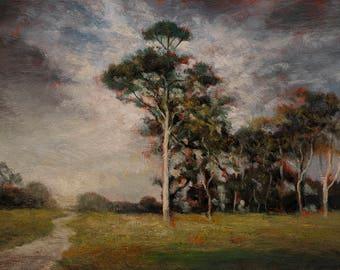 Break in the Storm Original 5x7 Oil Painting by M Francis McCarthy