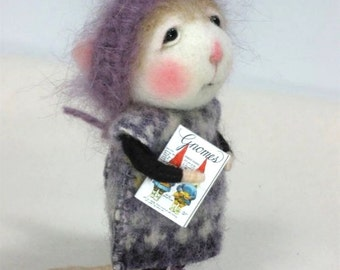 Needle Felted Animal Tutorial / Needle Felted Pattern / Needle Felted Mouse & Bunny / Needle Felting / Wool Roving / Wool Fleece / Pattern