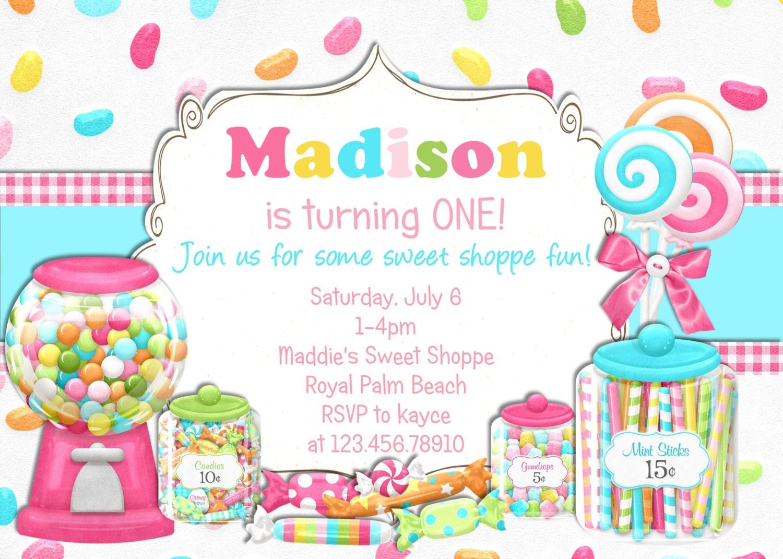 Candy Birthday Invitations - www.terimarieharrison.com - Best Resume ...