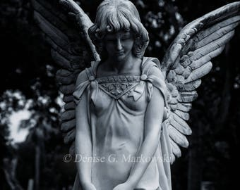 Silence ~ Cemetery Angel Photography Print ~ Fine Art Photography ~ Gothic Decor
