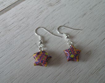 Origami star earrings