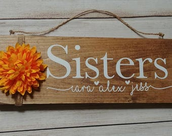 Sister, gift for her, sister gift, christmas gift, christmas for her, wood sign, home decor, family gift, gift, customize, personalize,