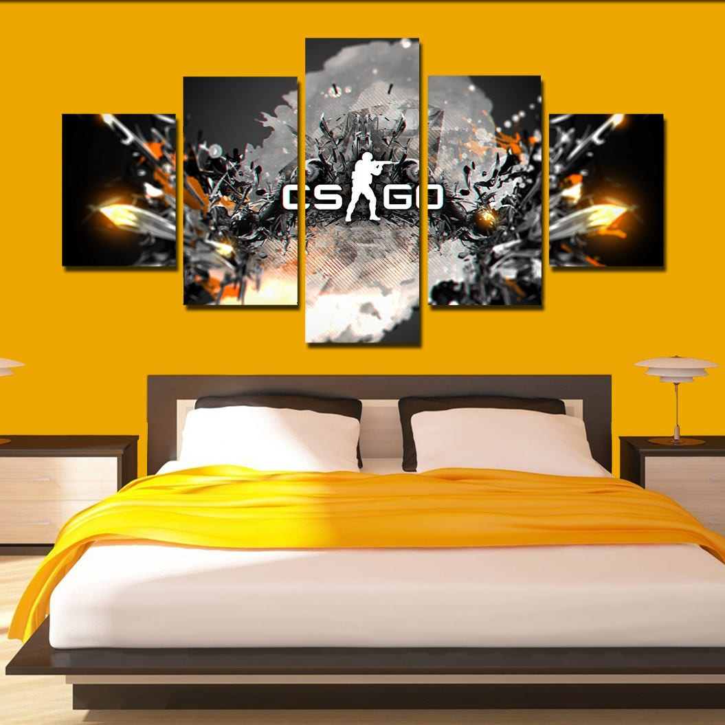 CS go Canvas Art Counter Strike global offensive poster print