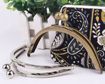 Bag Frame clutch purse frame with 15mm ball kis  bag frame Metal frame pouch, Kiss lock frame, Cosmetic bag 17*7.5cm