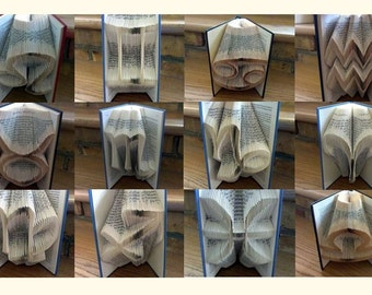 Book Folding Pattern Collection 3: 12 Astrological folded book art designs
