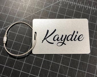 Custom Luggage Tag - Fast Shipping, Silver Personalized Luggage Tag, Bag Tag, Back Pack Tag, Travel Gift, Luggage Tag Personalized