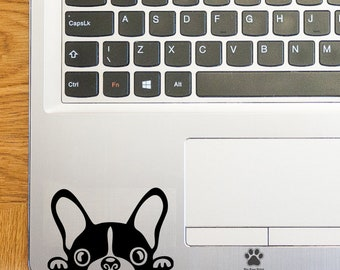French Bulldog x2 Laptop Stickers Laptop Decals French Bulldog Trackpad Stickers Trackpad Decals Touchpad Decals Vinyl Art Stickers