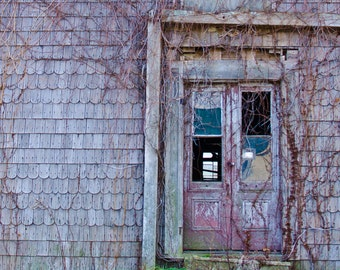 Abandoned Architecture Photography - American Country Photo - Country Home Decor - Shabby Chic Wall Art - Wyeth-Inspired Photo - 8x10 16x20