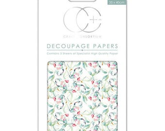 Paper (3 sheets) patch floral background - CCDECP236