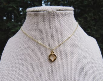 Gold Clover Necklace