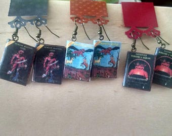 Dungeons and Dragons Book Earrings - DnD Book Jewelry - Handmade Earrings - Jewelry - Handmade Book Earrings -