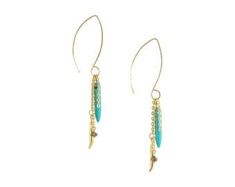 Gold Tusk Earrings