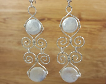 Duece Coin Pearls with Swirls