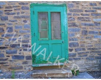 Green Door Photograph/ Print/ Art Work/ Photography