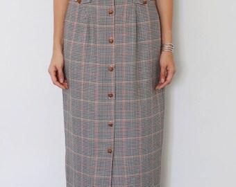 70's Tartan Maxi Skirt