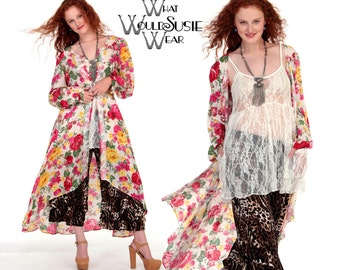 White Floral Lace Duster Jacket/ROSEY Duster/ Fishtail